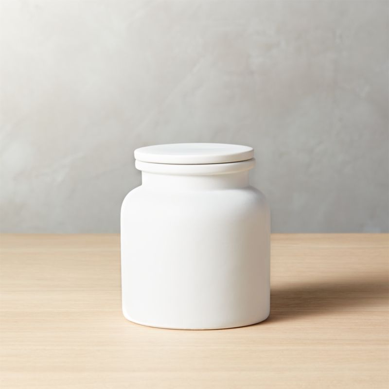Modern Kitchen Canisters. Prep Small White Canister