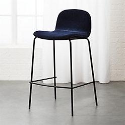 Primitivo Navy Blue Velvet Dining Chair Reviews Cb2