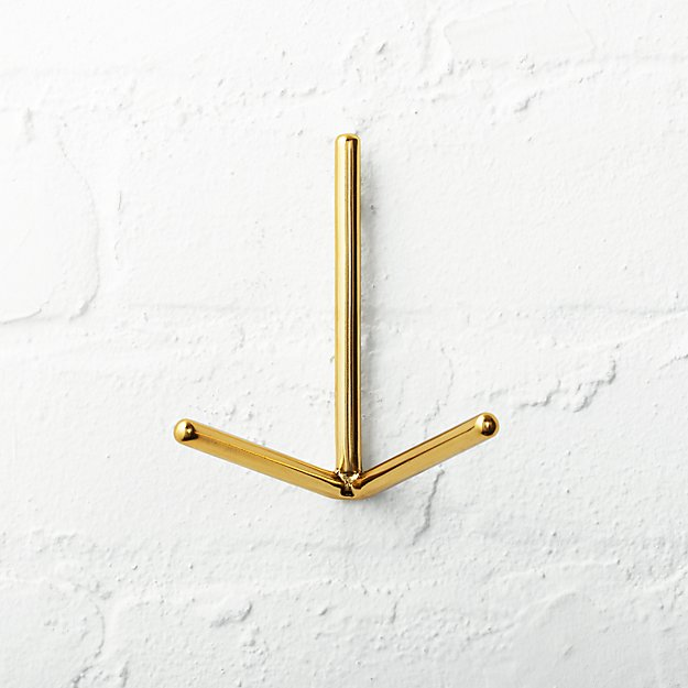 Print Gold Wall Hook