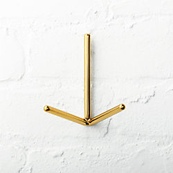 Print Gold Wall Hook