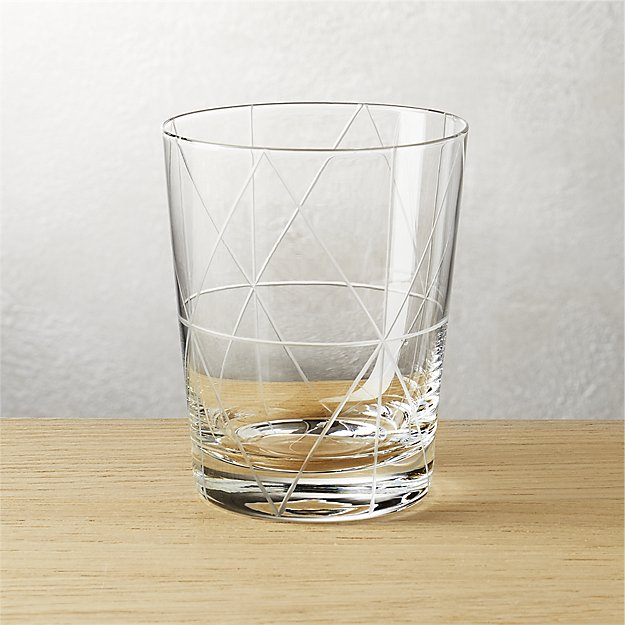 prism double old-fashioned glass