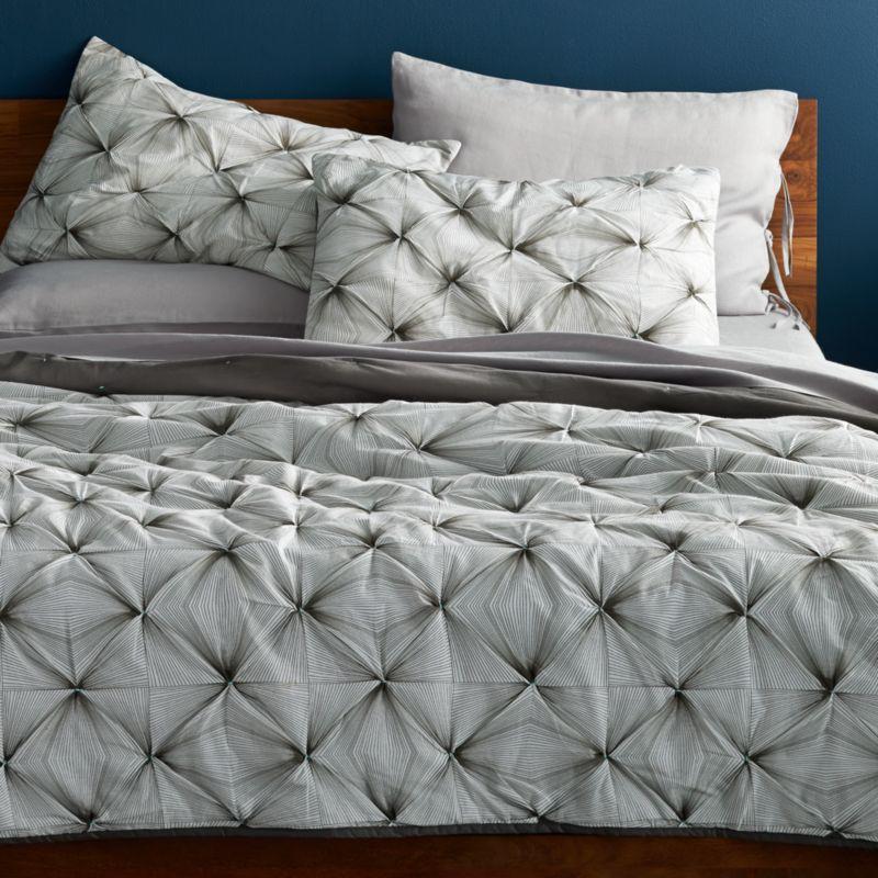 prisma black and white bedding | cb2