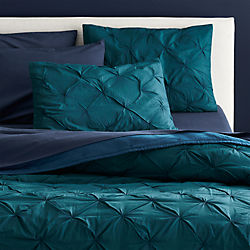 prisma blue-green bed linens