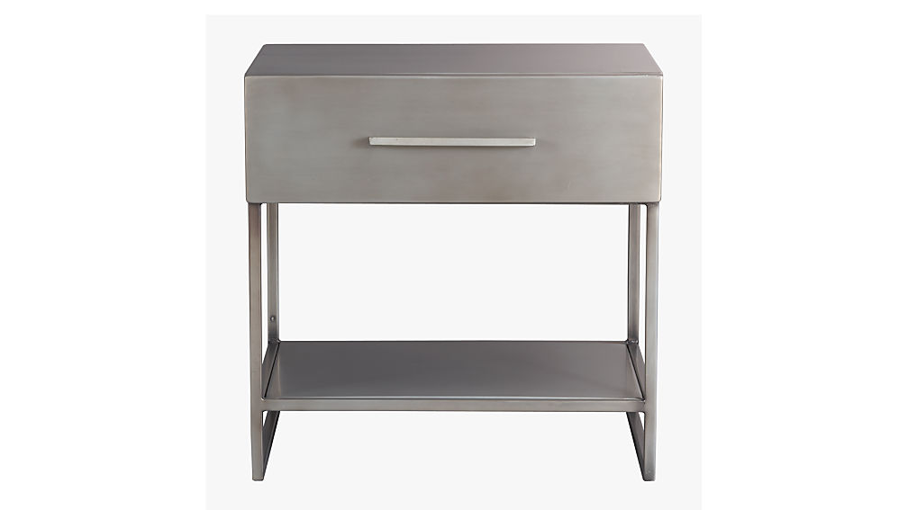 Bedside Stand proof metal nightstand | cb2