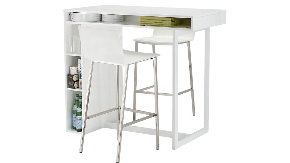 "public white 42"" high dining table"