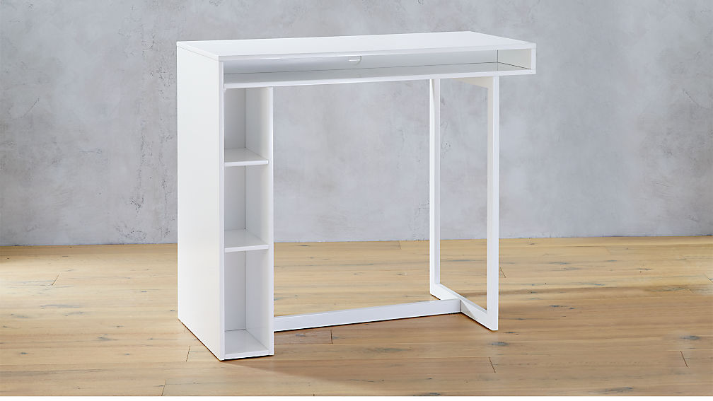 Public White 42 Quot High Dining Table Cb2