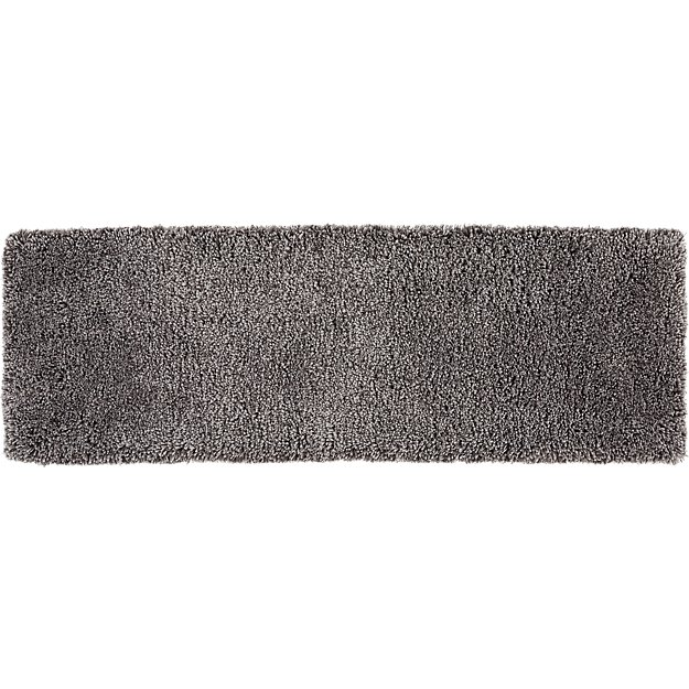 Puli Grey Shag Runner 2.5'x8'