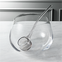 punch bowl with ladle