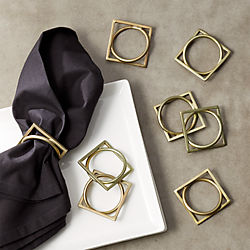 Puzzle Napkin Rings Set of 8