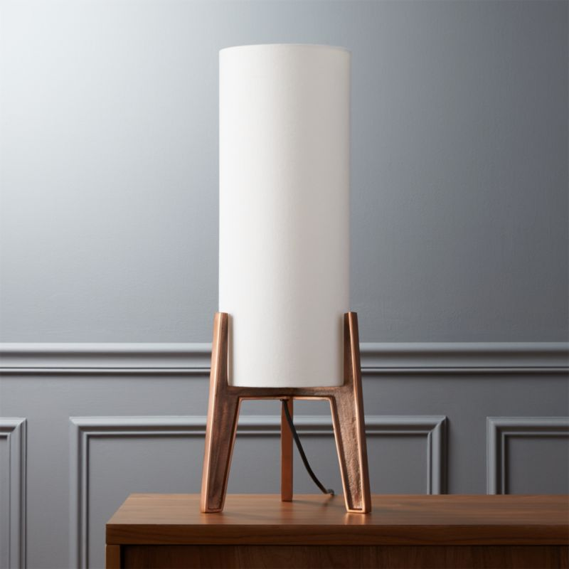 Designer Love Copper Lamp