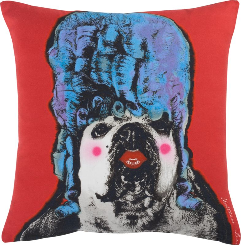 "queen B 16"" pillow with feather-down insert"