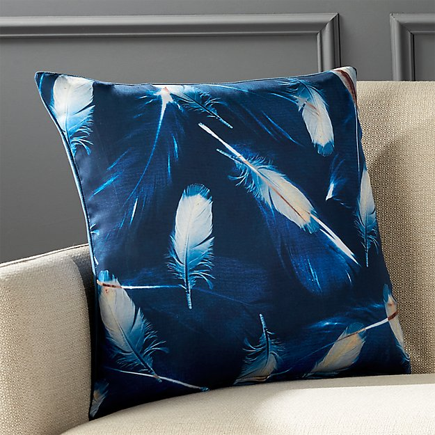 "18"" Quill Pillow with Feather-Down Insert"