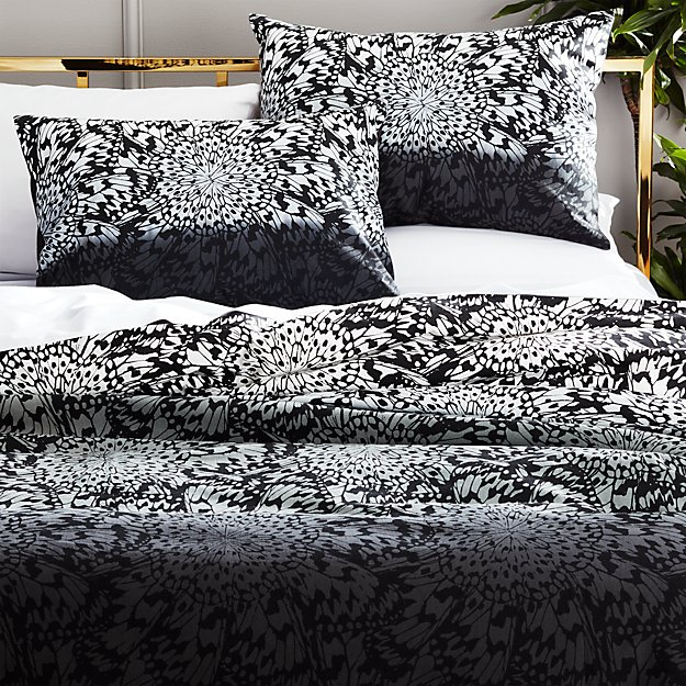 butterfly wheel grey full/queen duvet cover