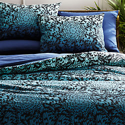 butterfly wheel teal bed linens