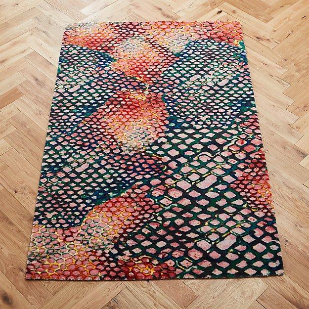 rainbow snake rug 5'x8'