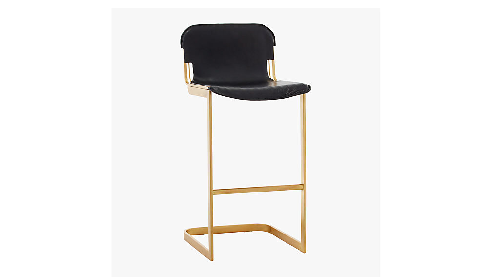 "rake brass 30"" bar stool"