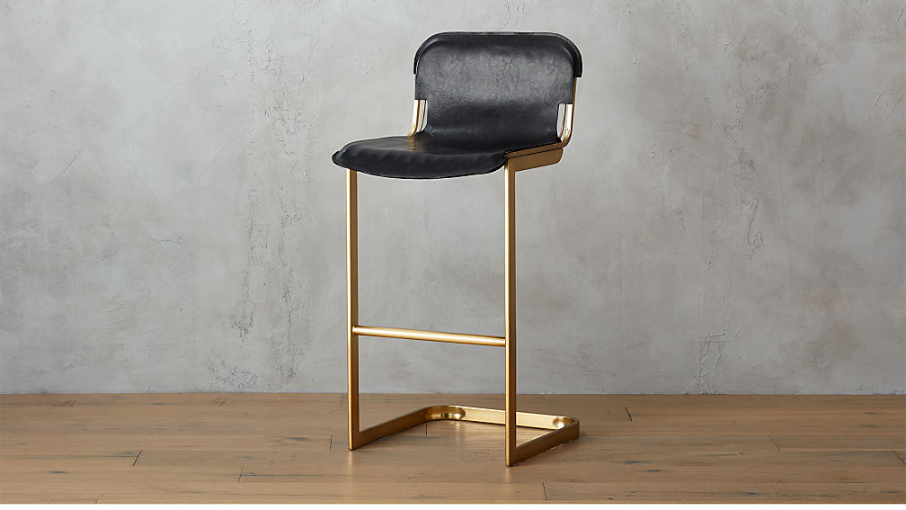 Rake Brass 30 Quot Bar Stool Cb2