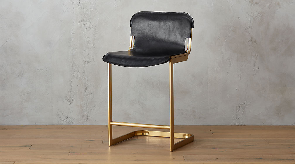Rake Brass 24 Quot Counter Stool In Bar Stools Counter Stools