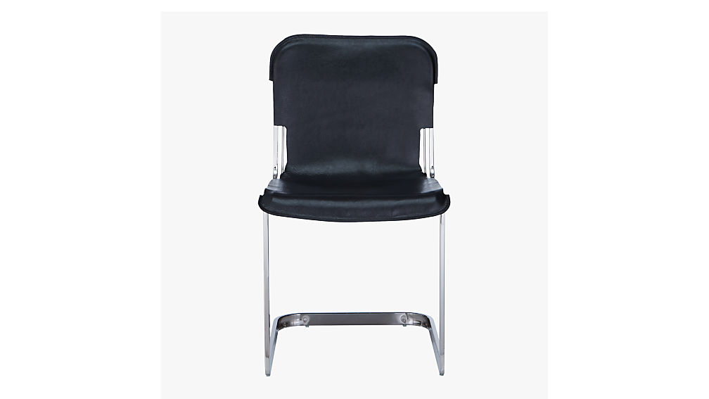 rake black nickel chair