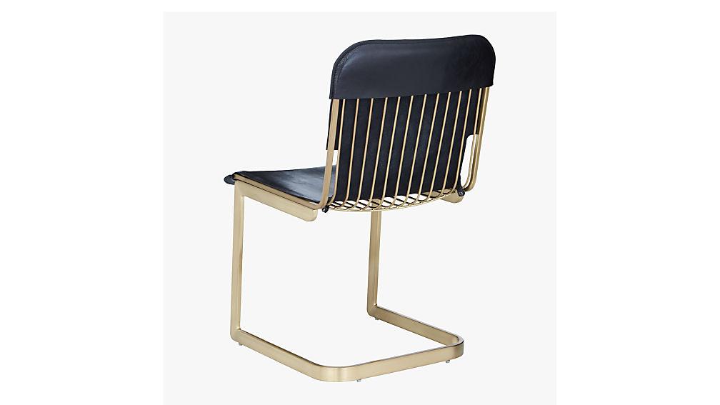 rake brass chair