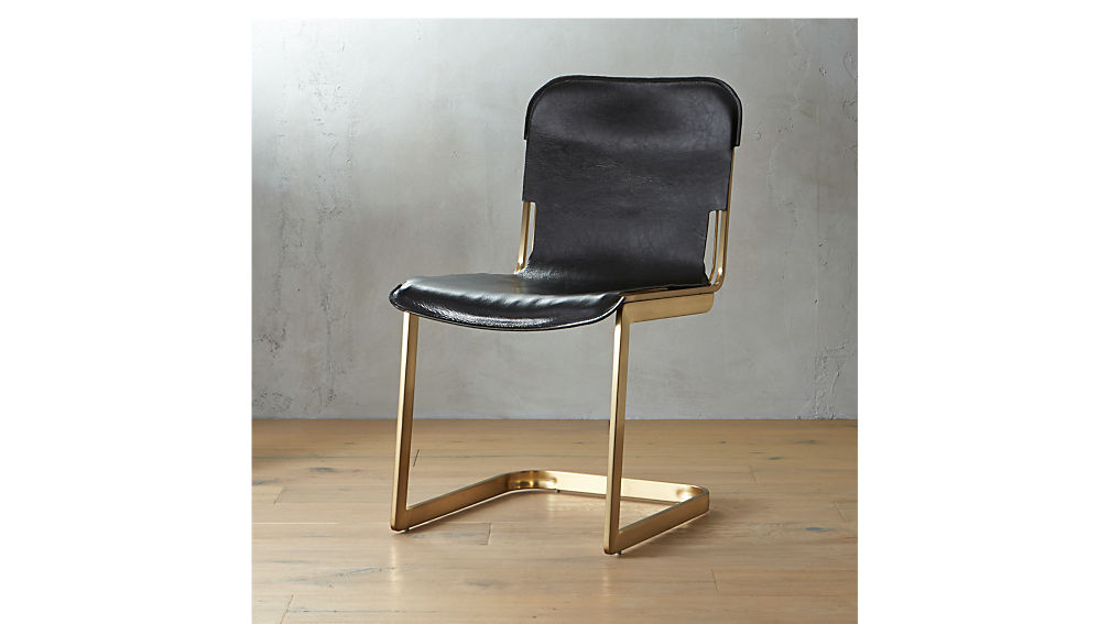 rake brass chair