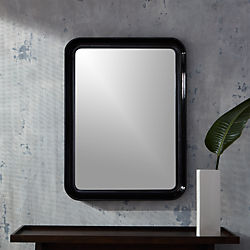 rakka black lacquer mirror