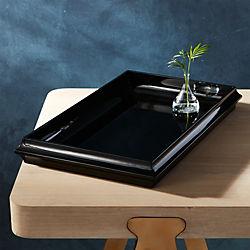 rakka black lacquer tray