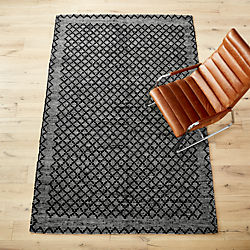 rally leather rug