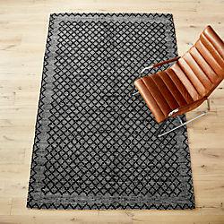 rally leather rug