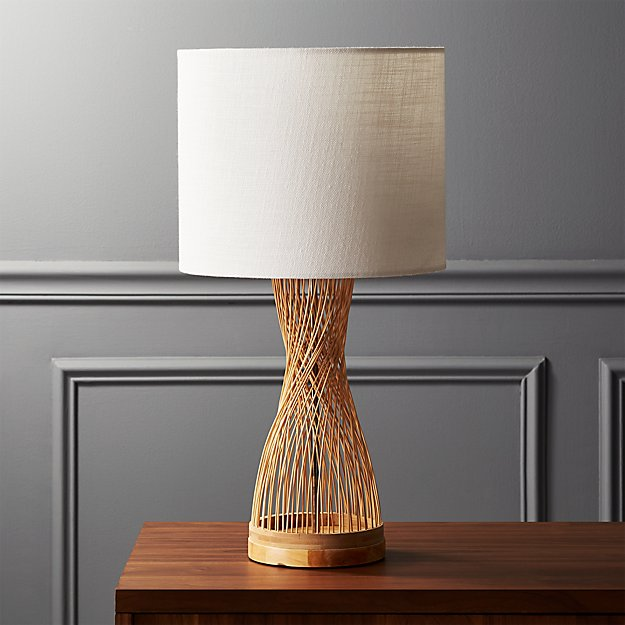 Rattan table lamp reviews cb2 aloadofball Choice Image