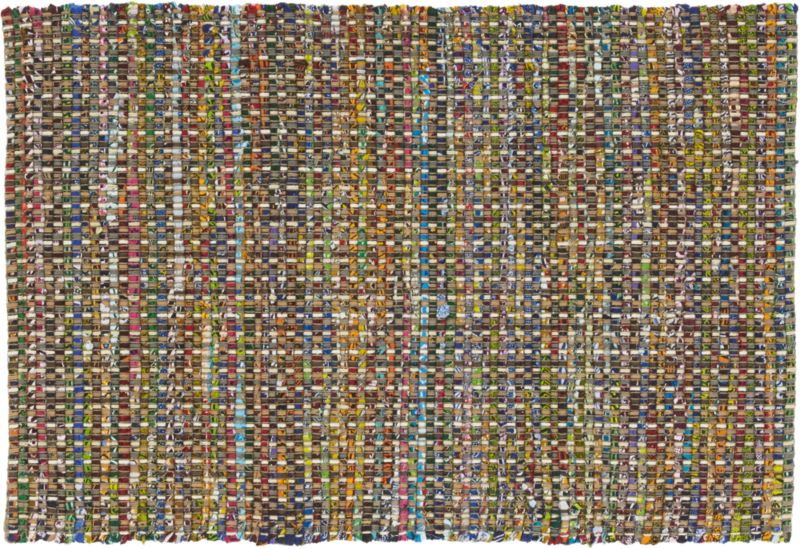 recycled cotton rug 2'x3'