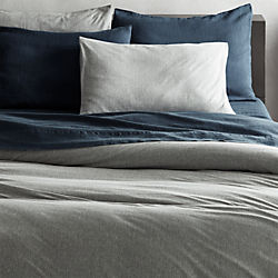 recycled jersey grey bed linens