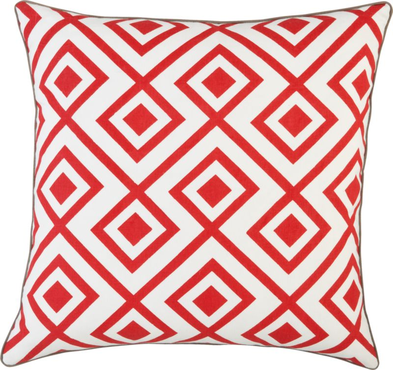 "red diamonds 20"" pillow"