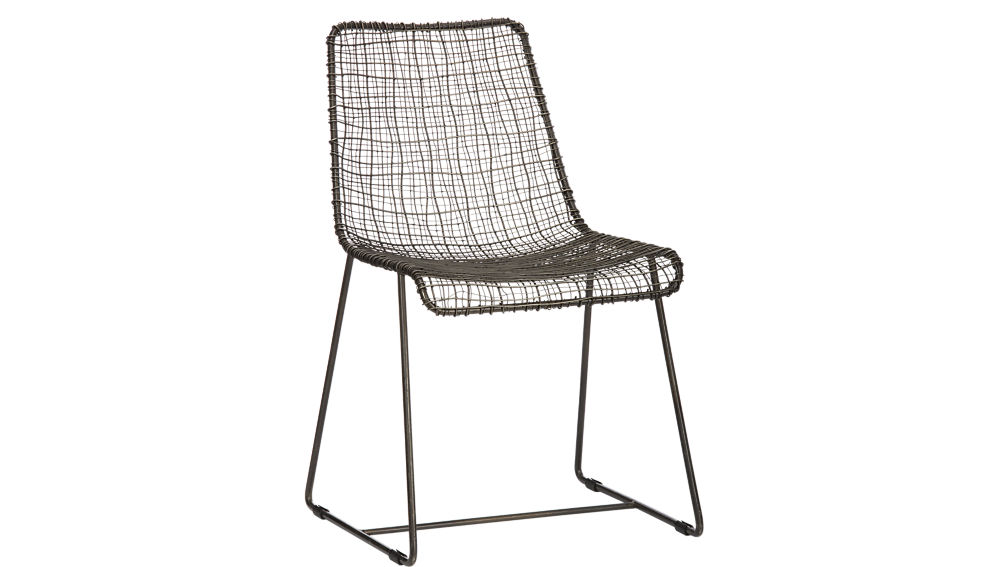 reed black wire chair | cb2