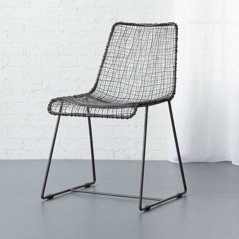 Superb Reed Black Wire Chair In Accent Chairs + Reviews | CB2 Amazing Ideas