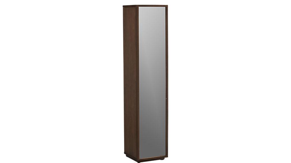 reflection mirrored narrow bathroom cabinet | CB2