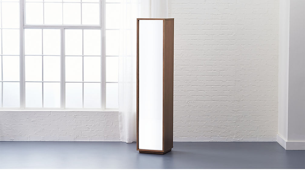 narrow mirrored bathroom cabinet reflection mirrored narrow bathroom cabinet cb2 19702