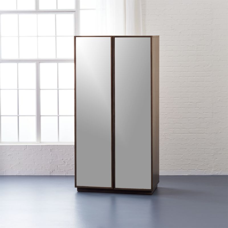 Reflection Mirror Wardrobe In Storage Cabinets + Reviews | CB2