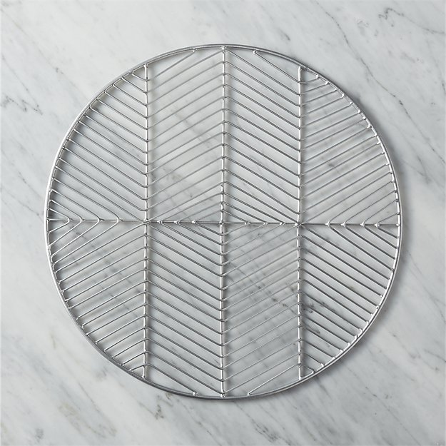 register silver placemat