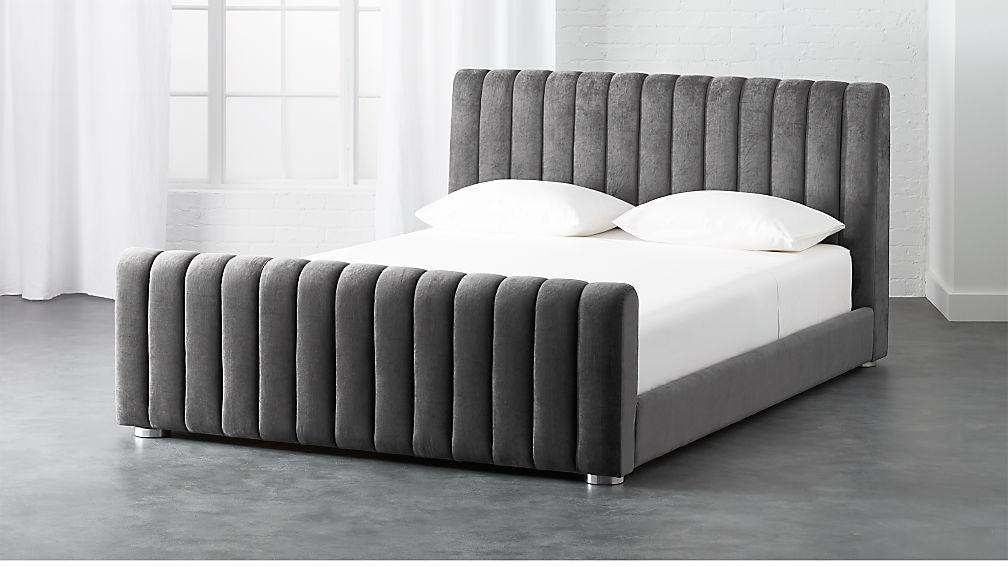 reign velvet bed cb2 - Velvet Bed Frame