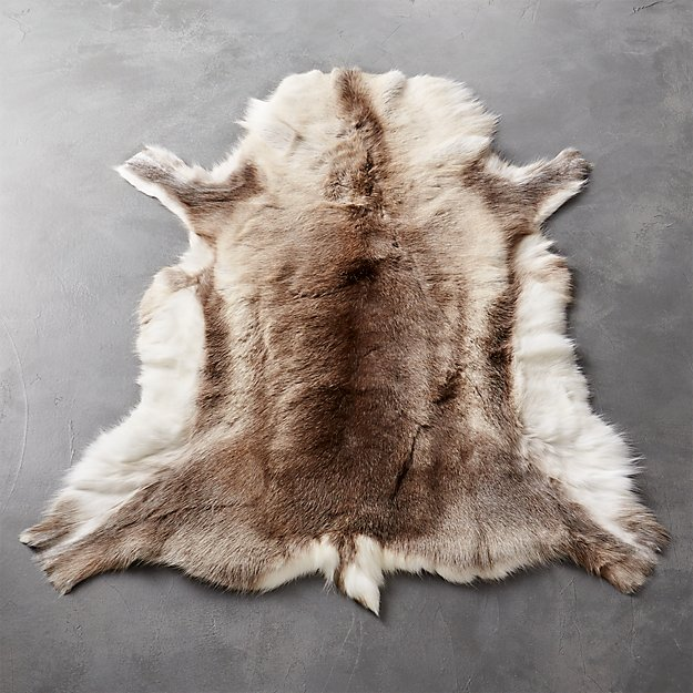 Reindeer Hide Rug 3 X5 Reviews Cb2