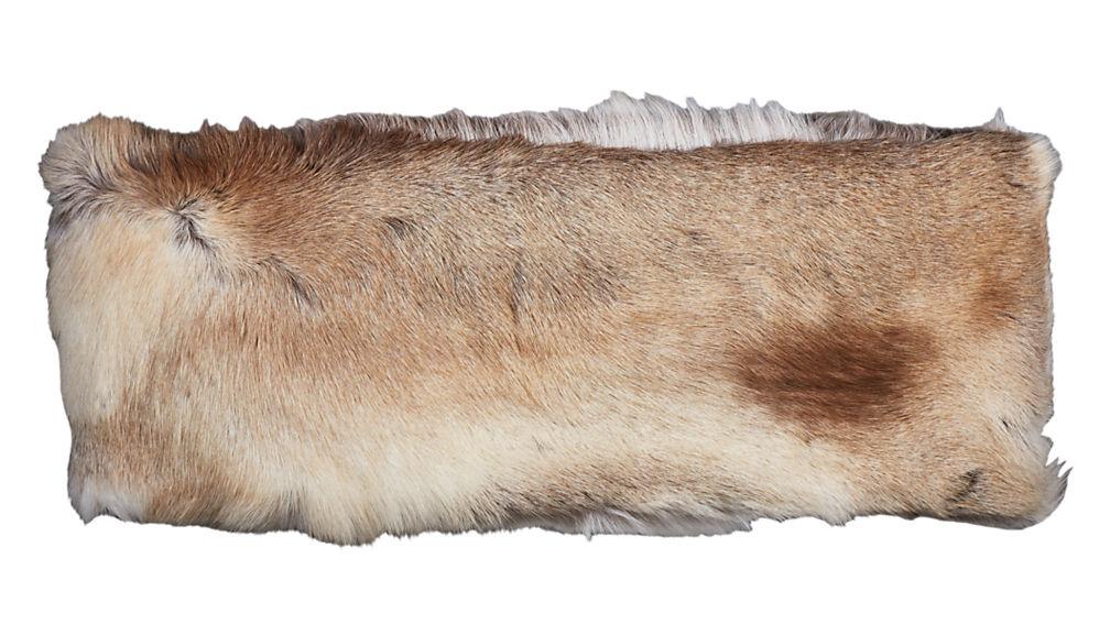 Reindeer Hide Acrylic Bench