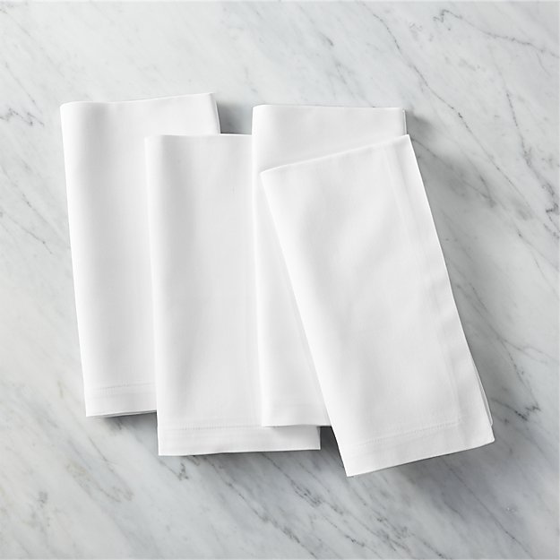 Restaurant Dinner Napkins Set Of 4 Reviews Cb2