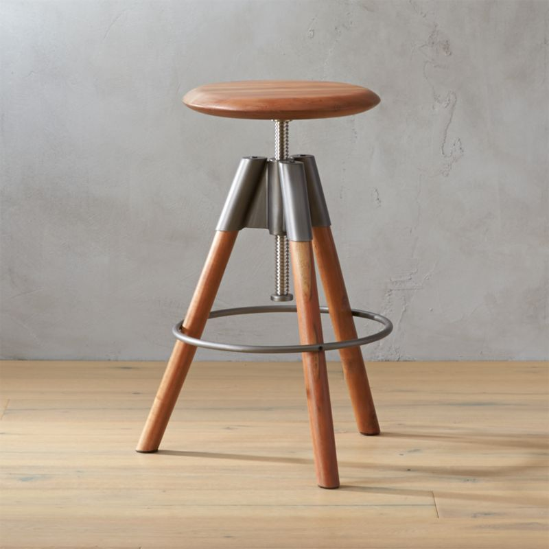 Revolution Adjustable Bar Stool | CB2