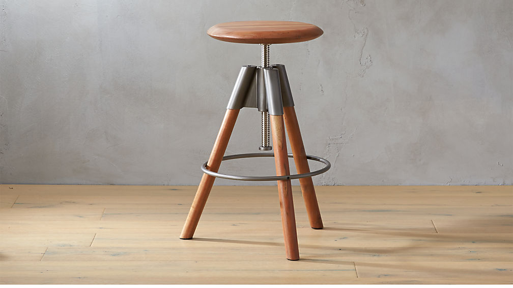 revolution adjustable bar stool ... - Revolution Adjustable Bar Stool CB2