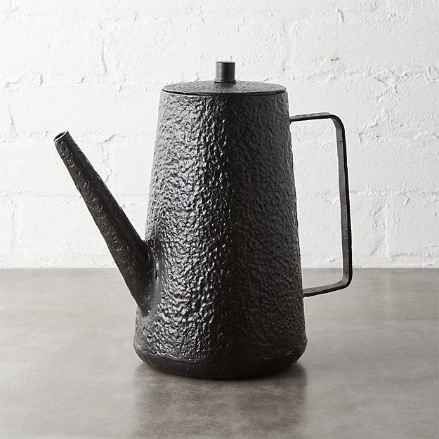 rewind black coffee-teapot