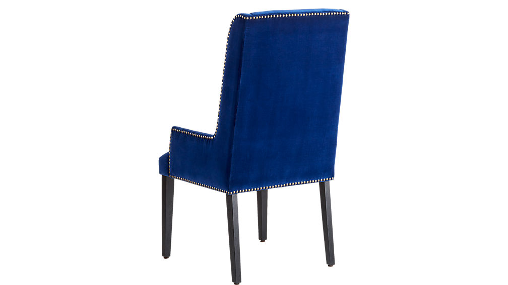 reynolds navy velvet chair