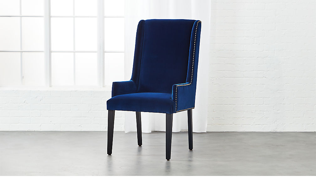 reynolds navy velvet chair