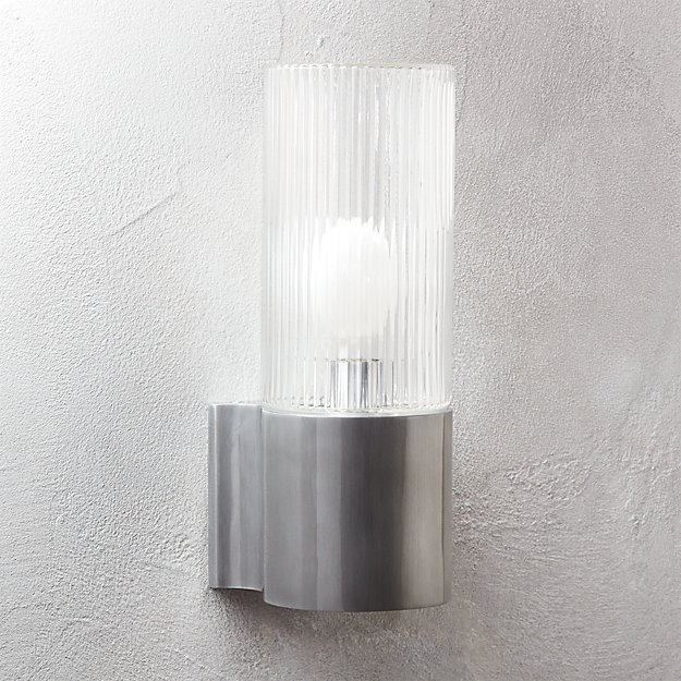 ribbed indoor-outdoor wall sconce