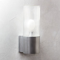 Ribbed Indoor Outdoor Wall Sconce